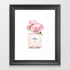 Flowers print, Fashion, Perfume, Scandinavian, Minimalist, Wall Art Framed Art Print