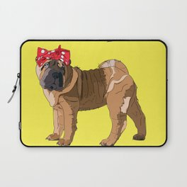 Political Pup-When We All Vote Shar Pei Laptop Sleeve