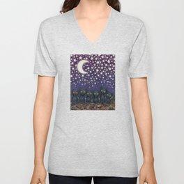 black cats, stars, & moon Unisex V-Neck