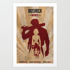 Bioshock Infinite - Booker and Elizabeth Art Print