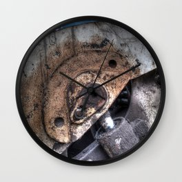 Machine Rust Hydraulic Ram Wall Clock