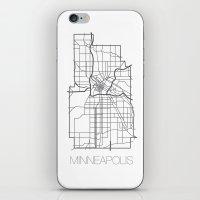 minneapolis iPhone & iPod Skins featuring Minneapolis by linnydrez