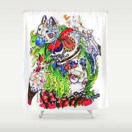 The rocking horse Shower Curtain