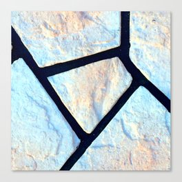 stone black line uneven ocean blue brown pattern Canvas Print