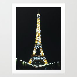 Eiffel Tower Bokeh Art Print