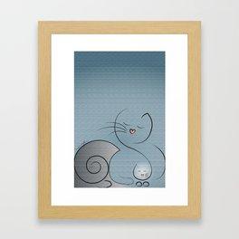 Mommy & Kitten Framed Art Print