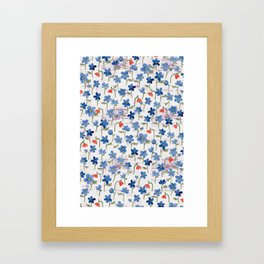 Blue Anemone - Springflowers Framed Art Print