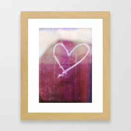 be still my beating heart Framed Art Print