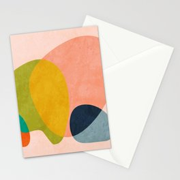 pink shape Stationery Cards