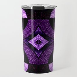 Stained Glass Collection III Passionate Purple Travel Mug