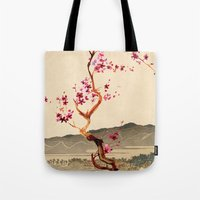 sakura Tote Bags featuring Sakura by Ned & Ems