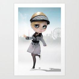 Erregiro Blythe Custom Doll Twiggy in London Art Print