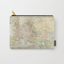 Old Map of Europe under the Empire of Charlemagne Carry-All Pouch