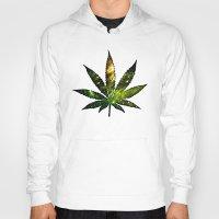 marijuana Hoodies featuring Marijuana Leaf - Design 3 by Spooky Dooky