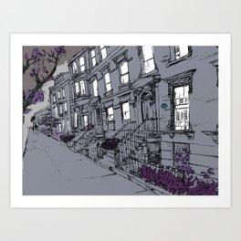Brooklyn Heights by night Art Print