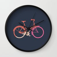 bike Wall Clocks featuring Bike by Leandro Pita