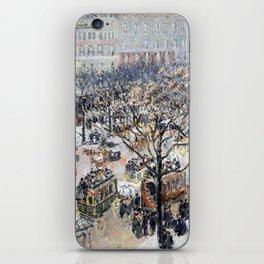 Camille Pissarro Boulevard des Italiens, Morning, Sunlight iPhone Skin
