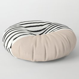 Latte & Stripes Floor Pillow