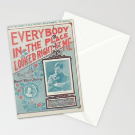 Vintage Musical Poster Stationery Cards