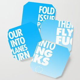 Fold Your Issues Into Paper Planes Coaster