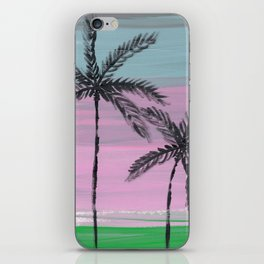 two palm trees sunset sky iPhone Skin