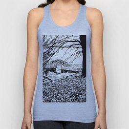 Et le jardin apparut  / And the garden appeared Unisex Tank Top