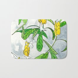 Caribbean Candela flower Bath Mat