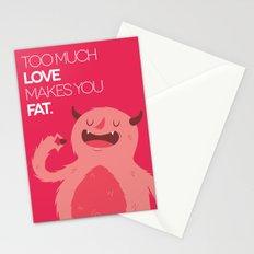 FATTY valentine's day Stationery Cards