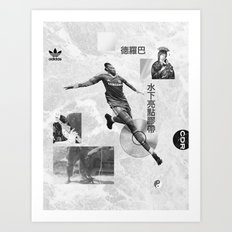 Didier Drogba Underwater Highlight Tape DVD-RW Art Print