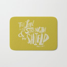 Psalm 28: 7 x Mustard Bath Mat