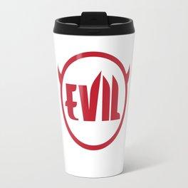 Evil Devil Logo Graphic Funny Red T-shirt Travel Mug