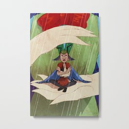 Butterfairy in the Rain Metal Print