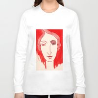 cara Long Sleeve T-shirts featuring CARA I by María Massó