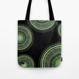 Delighting on Black Background Tote Bag