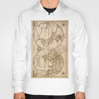world maps Hoodies featuring Old Maps by tanduksapi