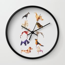 Dog breeds Wall Clock