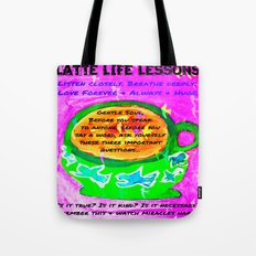 LATTE LIFE LESSONS ~ Is it true? Is it kind? Is it necessary? Tote Bag