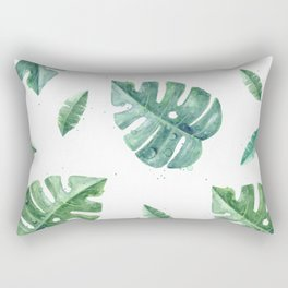 Watercolor leaf garden #society6 Rectangular Pillow