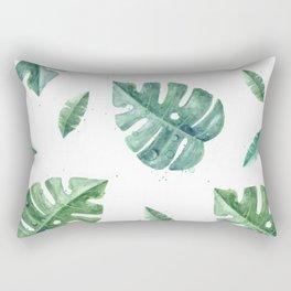 Watercolor leaf garden #society6 Rectangular Pillow