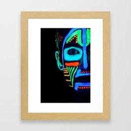 Colorful Neon Paint Under Blacklight Framed Art Print