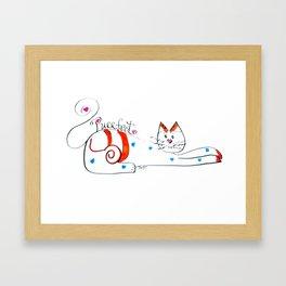 Cat Whimsey Framed Art Print