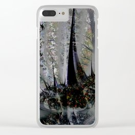 Frost in forest - Abstract illusion Clear iPhone Case
