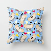 mouse Throw Pillows featuring mouse by Tanya Pligina
