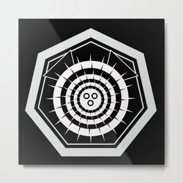Japanese Fugu Crest (White) Metal Print