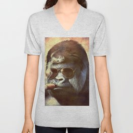 Gorilla in the Mist Unisex V-Neck