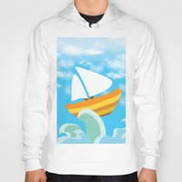 sail Hoodies featuring Sail by Lany Nguyen