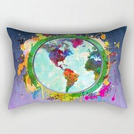 World Map - 2 Rectangular Pillow