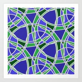 Spiral Mosaic Blue Art Print