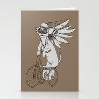 steam punk Stationery Cards featuring Steam Punk Chihuahua by Rebecca Pocai