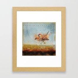 Kathmandu Cinnamon Sparrows Framed Art Print